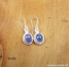 Boucles d'oreilles Tanzanite - Zoïsite bleue - en argent 925. Paire unique. OFFRE SPECIALE Drop Earrings, Jewelry, Unique, Tanzanite Earrings, Crystals, Boucle D'oreille, Minerals, Silver, Schmuck