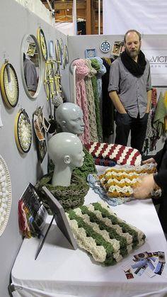 *scarf display*  3rd Annual Renegade Craft Fair Holiday Market in San Francisco by renegadecraftfair, via Flickr