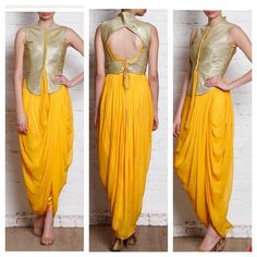 """144 Likes, 35 Comments - Fine Women's Clothing (@aarambh_clothing) on Instagram: """"Dhoti drape kurta !!!! Looks trendy and smart !!! Can be done in any colour !!!! Fully  stitched…"""""""