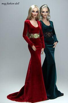New outfit for Kingdom Doll / Deva Doll / Modsdoll / Numin… Barbie Gowns, Barbie Dress, Barbie Clothes, Fashion Royalty Dolls, Fashion Dolls, Bjd, New Outfits, Dress Outfits, Dress Up Dolls