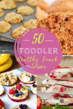 You're going to love these easy toddler snack recipes! Make them in big batches so you always have a healthy snack on hand. #toddlersnacks #toddlersnackrecipes #kidfriendlysnacks