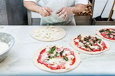"Stella 34: ""Of the pizzas coming out of three wood-burning ovens, the one with cauliflower, cream, and Meyer lemon is the clear winner. (Gratin should always be served on bread.)"" http://nyr.kr/1AYxUKj (Photograph by Lauren Lancaster)"