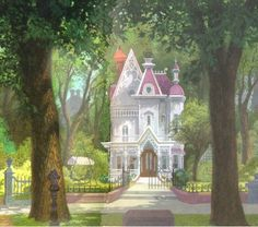 """The Lady and the Tramp"" background art Blog/Website 
