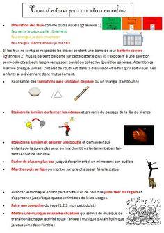 15 Trucs et astuces pour récupérer le calme en classe | BLOG GS CP CE1 CE2 de Monsieur Mathieu NDL