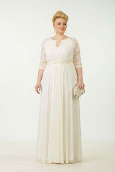 Evening and cocktail dresses for full women of the Belarusian company Tetra Bell. Plus Wedding Dresses, Plus Size Long Dresses, Big Size Dress, Plus Size Gowns, Bridal Dresses, Modest Maxi Dress, Mom Dress, Dinner Gowns, Evening Dresses