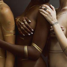 RIHANNA X JA TEMPORARY TATTOOS - METALLIC GOLD – Jacquie Aiche