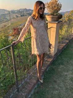 Vestidos de invitada para bodas. Look de Boda de mañana otoño. #sequins #lentejuelas #zara #wedding #boda  http://www.marilynsclosetblog.com/2017/10/the-perfect-dress.html Get this look: http://lb.nu/look/8878613  More looks by Marianela Yanes: http://lb.nu/marilynscloset  #bohemian #retro #romantic