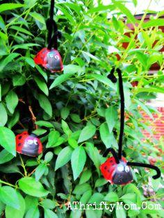 ladybug craft made from egg cartons