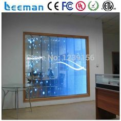 LEEMAN OPTOELECTRONIC technology Limited --- hot new products ali P10/P16/P20 transparent magic Video led glass display/screen