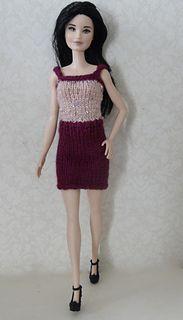 Ravelry: One Piece Skirt & Top pattern by stickatillbarbie. Barbie Knitting Patterns, Barbie Clothes Patterns, Crochet Barbie Clothes, Doll Patterns, Clothing Patterns, Doll Clothes, Knit Crochet, Crocheted Toys, Top Pattern