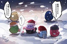 お題【雪遊び】 遅刻参加失礼します…! #ひよこのバスケお絵かき一本勝負