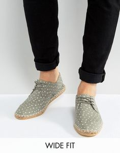 9870744475ac49 ASOS Wide Fit Espadrilles In Gray With Star Print Espadrilles Men