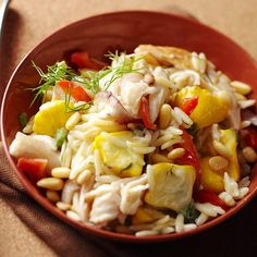 Dilled Chicken-Orzo