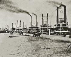 New Orleans Levee ~ circa 1868