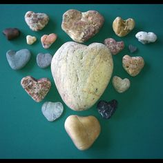 a RI heart rock collection