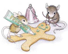 """Frosting A Gingerboy"" from House-Mouse Designs® featured on The Daily Squeek® for December 4th, 2012. Click on the image to see it on a bunch of really ""Mice"" products."
