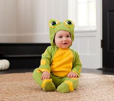 Baby Frog Costume | Pottery Barn Kids, I can make this with a green sweatsuit!