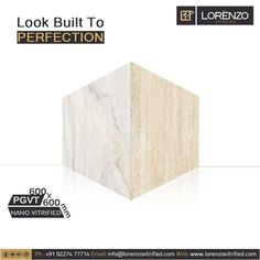 A Look built in perfection.  Millennium Tiles 600x600mm (24x24) Digital PGVT #Nano polished Porcelain #Tiles  - Nano Polished Vitrified Tiles: We apply a layer of liquid silica on the vitrified tiles that fills the micro (Nano) pores on the #surface so fewer pores are visible and the tiles looks more shiny & smooth. #porcelaintile #interiordesign