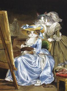 """Madame Labille-Guyard and her Pupils (Adélaïde Labille-Guyard)"" par Susan Herbert"