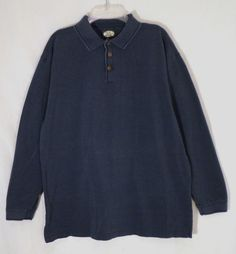 TOMMY Bahama mens long sleeve pullover shirt, size large, blue #TommyBahama #Pullover
