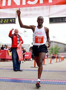 Bernard Onsare won the Calgary Marathon on Sunday in a record time. (Photo courtesy Brightroom)