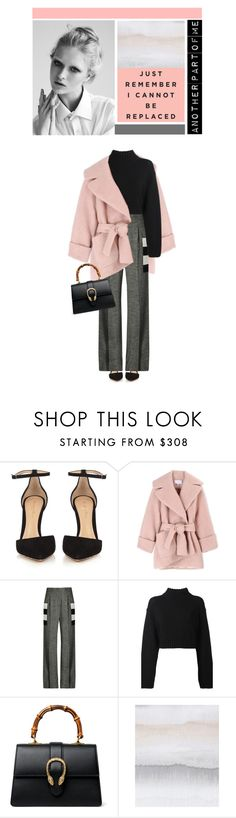 """Untitled #474"" by ino-6283 ❤ liked on Polyvore featuring Gianvito Rossi, Carven, MaxMara, DKNY, Gucci and WALL"