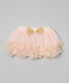 Another great find on #zulily! Pink & Gold Pearl Pettiskirt - Infant, Toddler & Girls by Richie House #zulilyfinds