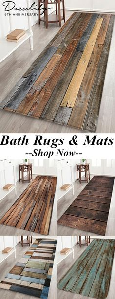 Up to 40% Off.Wood Board Print Water Resistant Floor Mat.Wood board pattern adds vintage style to your room.Preserving your floors from dirt, scratches, wear and tear.It's easy to lay flat, making your feet feel comfortable.Four sizes for your choice! #dresslily #bathrug #homedecor Minimalist Bedroom, Minimalist Interior, Minimalist Home, Diy Home Decor Rustic, Vintage Home Decor, Vintage Style, Farmhouse Decor, It's Easy, Boomerang Ideas