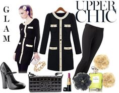 """""""GLAM UPPER CHIC - GLAM CONTEST"""" by sonia-cristina-nunes ❤ liked on Polyvore"""