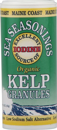 Maine Coast Sea Vegetables Organic Kelp Granules Salt Alternative- Easy way to add sea vegetables to your diet.  Sprinkle on salads and main dishes add to smoothies.