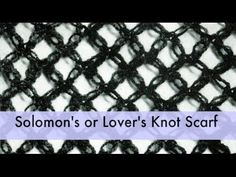 Learn How to Crochet - Solomon's Knot Stitch (Lover's Knot, Love Knot, Hail Stone, Salomon) - YouTube