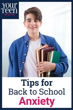 Going back to school can be a stressful time for high school students, so here's how to help teenagers deal with their back to school anxiety. Raising Teenagers, Parenting Teenagers, Good Parenting, Parenting Hacks, Back To School Hacks, Going Back To School, Teen Depression, Thing 1, Crown