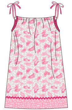 FabShop Hop FREE Pattern Download      Make a Pretty Pillowcase Dress