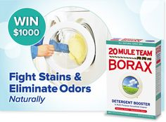 *THIS SWEEPSTAKES HAS ENDED* Repin if you're feeling like a winner! Our friends at #Borax are giving away 1,000 dollars.