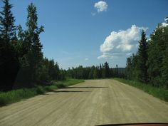 A portion of the original dirt road to Nenana. The new road is all paved. I drove the old one wherever possible,