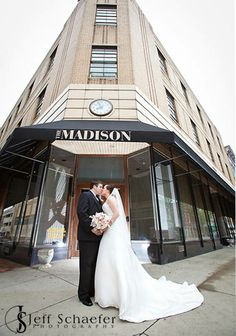 The Madison Event Center Bride & Groom! www.thecovingtonmadison.com #madisoneventcenter #madisonbrides