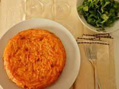 Tortilla de macarrones con chorizo