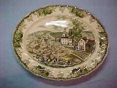 "Johnson Brothers Friendly Village 12""Oval Platter Village Green England EXC Cond | eBay"