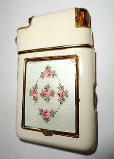 Vintage 1930s Marathon Compact Enamel Lighter Cigarette Case Caselighter EXC | eBay