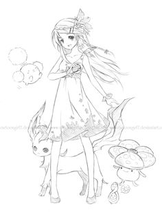 Pokemon post again :'D This was an OC I made with an all grass team. Seriously, I will stop posting old sketches soon.  Still three more finals to go, so I'm focusing on that atm. I want to have my old sketches all uploaded to this blog so I have an archive of them (actually I don't even have that many;; ). I have some new doodles, but I haven't scanned them in yet orz;;    That sketch turned out like this after inking/coloring:  (Source: myrollingstar)