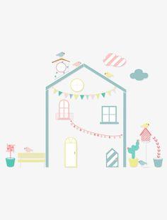 amazing sticker enfant maison xxl multicolore with tapis marelle maison du monde. Black Bedroom Furniture Sets. Home Design Ideas