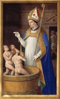 Jean Bourdichon - Grandes heures d'Anne de Bretagne, XVIe – 'Miracle des trois enfants'