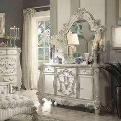 The 3 Pieces of Furniture Essential for a Shabby Chic Bedroom – We Shabby Chic Shabby Chic Furniture, Shabby Chic Decor, Bedroom Furniture, Vintage Furniture, Bedroom Dressers, French Furniture, 5 Drawer Dresser, Dresser With Mirror, Drawers