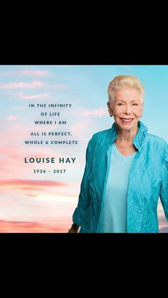 RIP #LouiseHay a profound pioneer in the #SelfHelp industry who transitioned in her sleep on August 30, 2017 at 90 years of age. What an inspiration she will continue to be! God bless her soul. ✨❤️✨