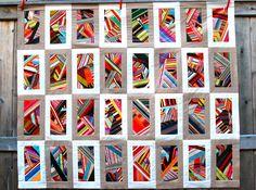 https://flic.kr/p/8Xamdh | crazy quilt top | Quilt top made from all my stripe fabric scraps