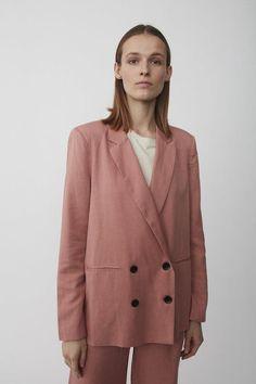 Just Female PRIYA SOFT BLAZER - Ash Pink