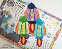 074 Rocket Bookmark or decor - Amigurumi Crochet Pattern - PDF file by Zabelina Etsy