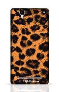 Leopard Skin Sony Xperia T2 Phone Case