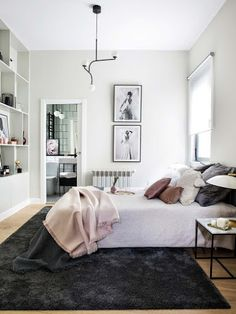 〚 Stylish apartment of a musician in Madrid 〛 ◾ Photos ◾Ideas◾ Design Guest Bedroom Decor, Farmhouse Bedroom Decor, Home Bedroom, Light Bedroom, Design Eclético, Interior Design Themes, Eclectic Design, Eclectic Decor, Beautiful Bedrooms