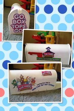 Great Collection container for the front office. Box Tops mail box! Box Tops for Education.